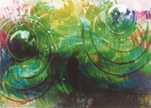Photo Art Ocean rain - watermarked