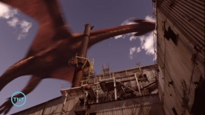 This is a capture of a dragon in the last episode; the loom of fate in the series Librarians.